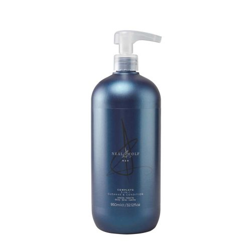 Neal & Wolfe Mens Complete 3-in-1 Shampoo, Conditioner and Body Wash